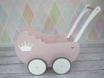 Wózek drewniany dla lalek jEDYNY PREZENT