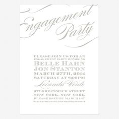 Printable engagement party invite proposal silhouette blue text cheri engagement party invitations lovevsdesign stopboris