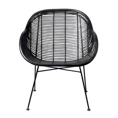 Add beautifully light and airy design to the home with this braided lounge chair from Bloomingville. In sleek black, this rattan chair has a braided woven design which creates and open and relaxed fee