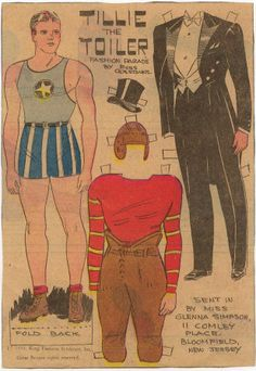 Tillie the Toiler Fashion Parade - Male 1934