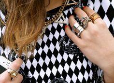 jewelry street style stud rings adorn london jewelry trends blog