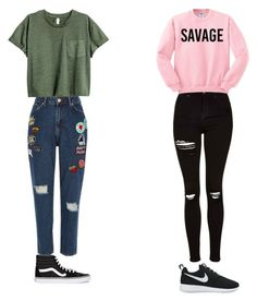 """1/2 moodS"" by gherasim-alicia on Polyvore featuring River Island, NIKE, Topshop and Vans"