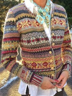 Load image into Gallery viewer, Casual Vintage Long Sleeve Knitting Cardigan Fair Isle Pullover, Handgestrickte Pullover, Pullover Sweaters, Cardigan En Maille, Knit Cardigan, Casual Sweaters, Vintage Sweaters, Oversized Sweaters, Winter Sweaters