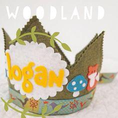 Waldorf Birthday Crown - Woodland Fox Birthday - Personalized Crown
