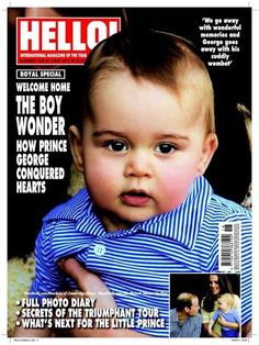 Prince George, celebrated toddler, is already on the cover of a magazine