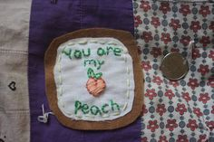 FREE SHIPPING Peach Patch The Front Bottoms by ThePastRecycled, $5.00