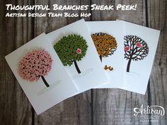Stampin 'Up!  - Branches Réfléchi Sneak Peek - Artisan Design Team Blog Hop - Valerie Moody.  X