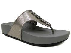 Bare Traps Women's Garnett Flip Flops Platform Thong Sandals Pewter 8 M #BareTraps #BareFlipsPlatformThongs #SummerNightOutCasual