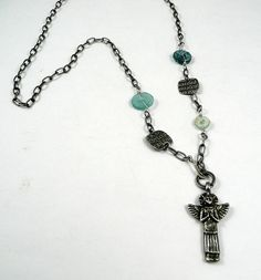 Medieval Angel Necklace with Ancient Roman by SweetleafSisterz, $52.00