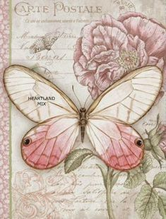 quenalbertini: Vintage Welcome Card for Decoupage Vintage Labels, Vintage Ephemera, Vintage Cards, Vintage Paper, Decoupage Vintage, Images Vintage, Vintage Pictures, Butterfly Cards, Pink Butterfly