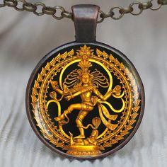 Dancing Shiva pendant Nataraja necklace Statue of by PedantWorld