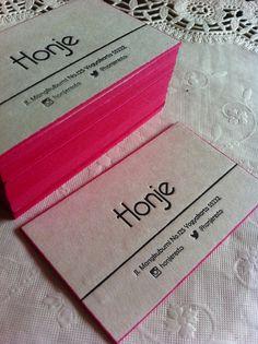 Honje business card