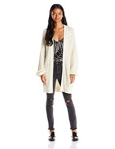 Careful Romeo Sweaters Juliet Couture Womens Ruffled Open Front Cardigan Sweater Beige Small Elegant In Style