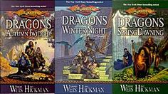 Dragonlance Chronicles - Dragons of Autumn Twilight, Dragons of Winter Night, and Dragons of Spring Dawning.  I've read these probably 50 times.