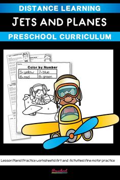 This Jets Preschool packet is a wonderful way for your preschool or pre-k kids to work on basic literacy and math and fine motor skills. These no-prep printables are great for distance learning or in class centers and stations Preschool Curriculum, Preschool Printables, Preschool Worksheets, Preschool Learning, Printable Worksheets, Homeschool, Teaching, Everything Preschool, Toddler Age