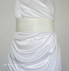 SALE...Simple Bridal Sash in Ivory or Any Color,Matte Satin Sash,3 inch Wide,Bridesmaids Belt