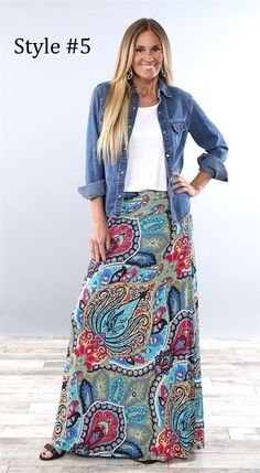 Shop a great selection of Yinggeli Women's Bohemian Print Long Maxi Skirt. Find new offer and Similar products for Yinggeli Women's Bohemian Print Long Maxi Skirt. Maxi Skirt Outfits, Long Maxi Skirts, Boho Outfits, Dress Skirt, Fashion Outfits, Jackets Fashion, Modest Outfits, Mini Skirts, Dress Long