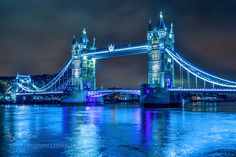 Tower Bridge - Pinned by Mak Khalaf HDR view of the London's Tower Bridge at night Travel bridgelondonrivertower bridgeukunited kingdom by fotografomatteo