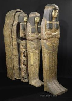 , 21st dynasty (Tanis and Thebes), 1085-950 BCE, Coffin, Female, Mummy, Sarcophagus, Sculpture