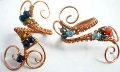 Adjustable copper wire wrapped rings
