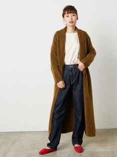 間違いなく使えるニットコート💛 Harem Pants, Normcore, How To Wear, Yahoo, Black, Style, Fashion, Swag, Moda