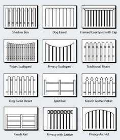Wood Fence Styles, designs Charleston, South Carolina
