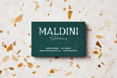 """Brand Identity for Maldini by Jens Nilsson """"Identity for the small independent interior design firm Maldini Studios in Stockholm, Sweden. The identity has a high focus on texture and material with the custom made typeface, Donadoni, as the key. Elegant Business Cards, Custom Business Cards, Business Logo, Business Card Design, Graphic Design Projects, Print Design, Interior Design And Construction, Studios, Minimal Web Design"""