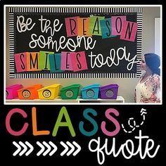 """""""Be the reason someone smiles today"""" Bulletin Board Letters by Caroline McNulty by verna Counseling Bulletin Boards, Summer Bulletin Boards, Bulletin Board Letters, Bulletin Board Display, Classroom Bulletin Boards, Kindergarten Classroom, School Classroom, Classroom Themes, Classroom Organization"""