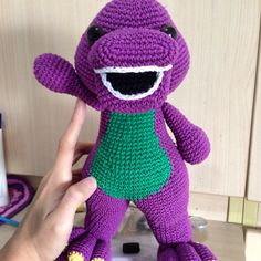 Barney from barney and friends. A customer's order and by far the LARGEST amigurumi i ever crocheted