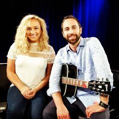 Sept 21 Awesome interview today with @tinaguess ! Thanks for having me to the studio to chat & perform! #interview #livemusic