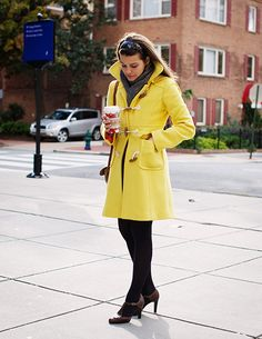 I so want a yellow duffel coat!