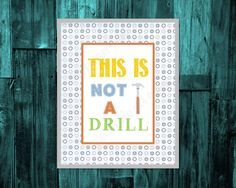 BOYS ROOM DECOR construction theme nursery, kids tools nursery, this is not a drill digital download by ThePaperLace