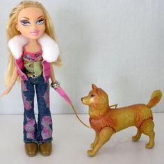 2001 MGA Bratz Walking Cloe Doll With Dog 9 Inches Tall #MGA #DollswithClothingAccessories