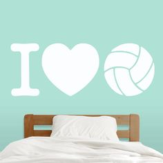 I Love Volleyball Wall Decal // Sports Athlete Quote // Kids Room Teen Room Locker Room // Removeable Wall Decor Vinyl Wall Sticker Volleyball Quotes, Coaching Volleyball, Volleyball Skills, Volleyball Bedroom, Sports Wall Decals, Wall Sticker, Room Deco, Volleyball Wallpaper, Volleyball Backgrounds