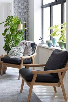 Furninova Lenestol Podium, eikestamme - Svart - Hjem & innredning - Ellos.no Interior And Exterior, Interior Design, Find Furniture, Living Room Sofa, Accent Chairs, Lounge, Inspiration, Artist Art, Home Decor