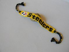 Steelers Friendship Bracelet --with optional adjustable clasp on Etsy, $12.00