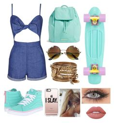 """Free Spirit"" by donimite ❤ liked on Polyvore featuring Topshop, Vans, Vera Bradley, Casetify, ALDO and Lime Crime"