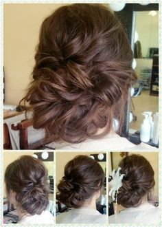 Romantic loose updo - Rustic wedding hair style - Hair trial by Fiona Tsang