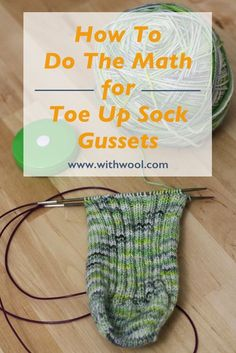 I am a toe-up sock knitter. There are lots of reasons why I made the switch  to toe up socks after knitting a few pairs of cuff down socks but the main  reason is pretty straightforward. I, and most of the people I knit socks  for, have big feet. Working from the toe-up means I can increase until I  reach a stitch count that fits at a gauge that will make a comfortable,  durable sock.  There are plenty of options for heels to work on toe up socks: heel flaps,  short rows, afterthought…