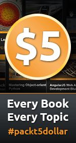 Flat $5 for any eBook on PacktPub