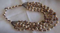 Maxicolar em semente de açai e continhas de ceramica