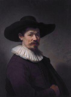 Rembrandt Harmenszoon van Rijn (Dutch 1606–1669) [Dutch Golden Age, Baroque] Portrait of Herman Doomer, 1640. Oil on panel, 75.2 x 55.2 cm. Metropolitan Museum of Art, New York.