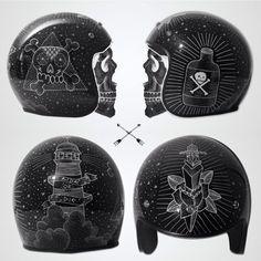 motomood: Top 5 custom helmets on motomood.comhelmet concept |...  motomood:  Top 5 custom helmets on motomood.com  helmet concept | pampi  custom helmet | trooper  100% The Barstow X Deus Ex Machina  Gringo helmet | Dylan York  old school helmet | DMD