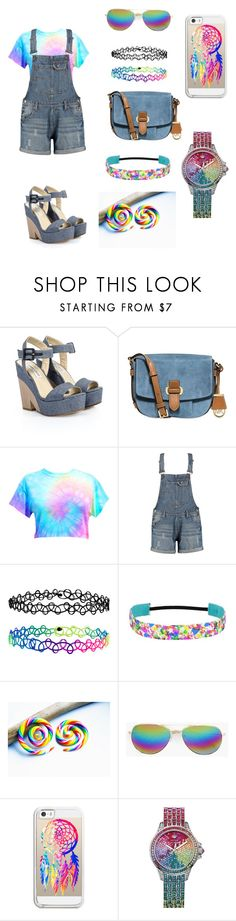 """""""Untitled #170"""" by angela-cabanog ❤ liked on Polyvore featuring Jimmy Choo, MICHAEL Michael Kors, Accessorize, Boohoo, Casetify, Juicy Couture, TrickyTrend and overalls"""
