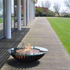 Fancy Bioethanol Kamin im Garten von Glamm Fire