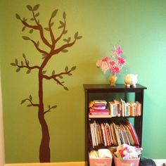 The tree I painted on Bella's wall for her room redesign!