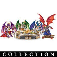 """""""Knights Of The Round Table"""" Dragon Figurines  I actually think they are playing D."""