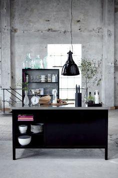 Kitchen in industrial space