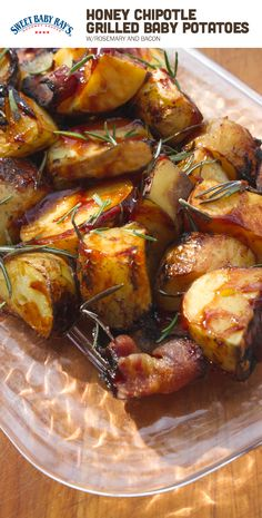 Honey Chipotle Grilled Baby Potatoes with Bacon | Delicious BBQ appetizer, ready in 30-60 minutes