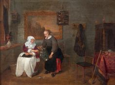A Dutch Interior Quiringh van Brekelenkam (after 1622–1669 or after) National Museum Wales, National Museum Cardiff
